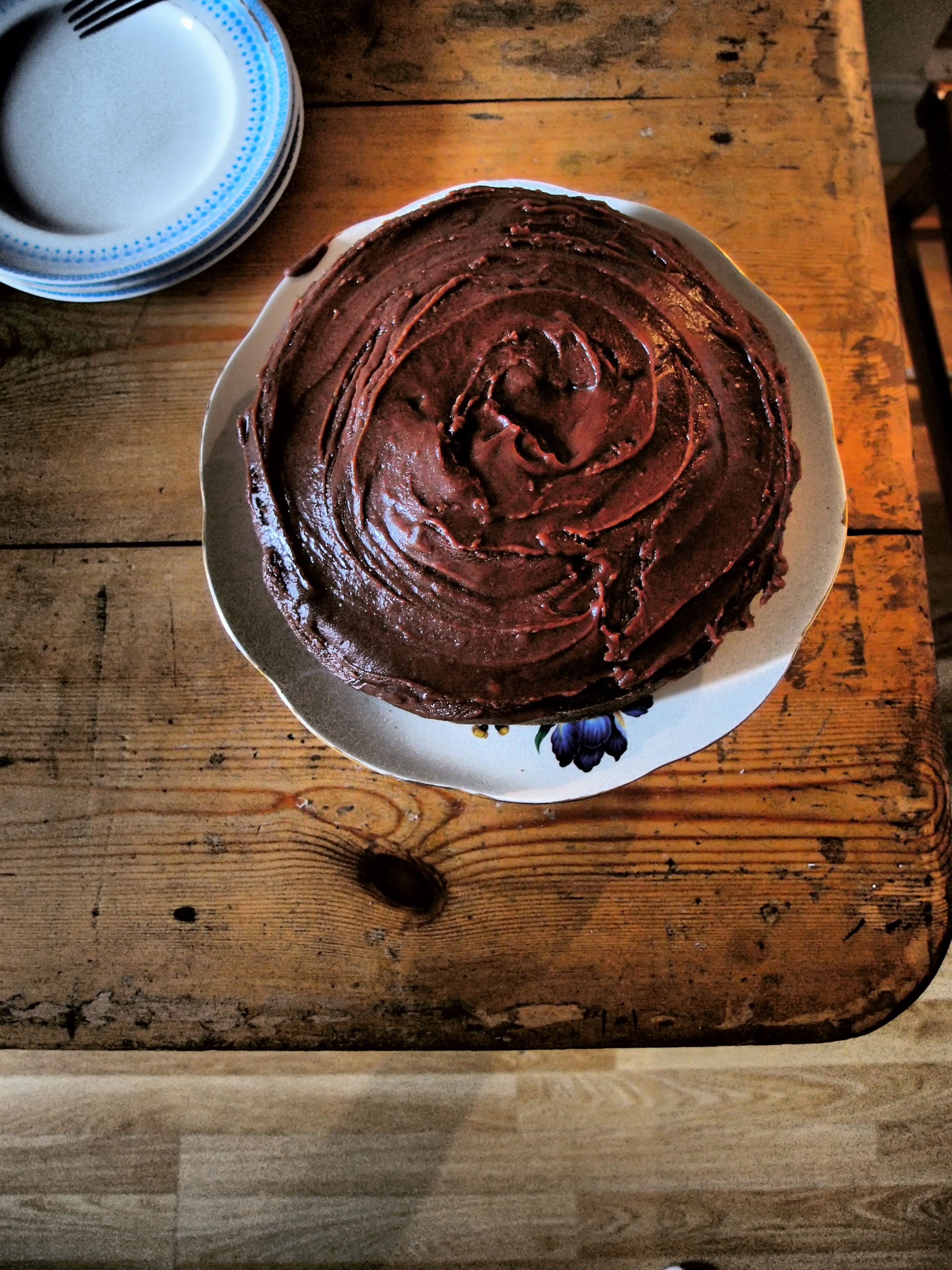 Elizabeth David Chocolate Cake With Flour